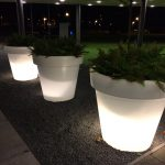 witte potten buiten 20 x 20